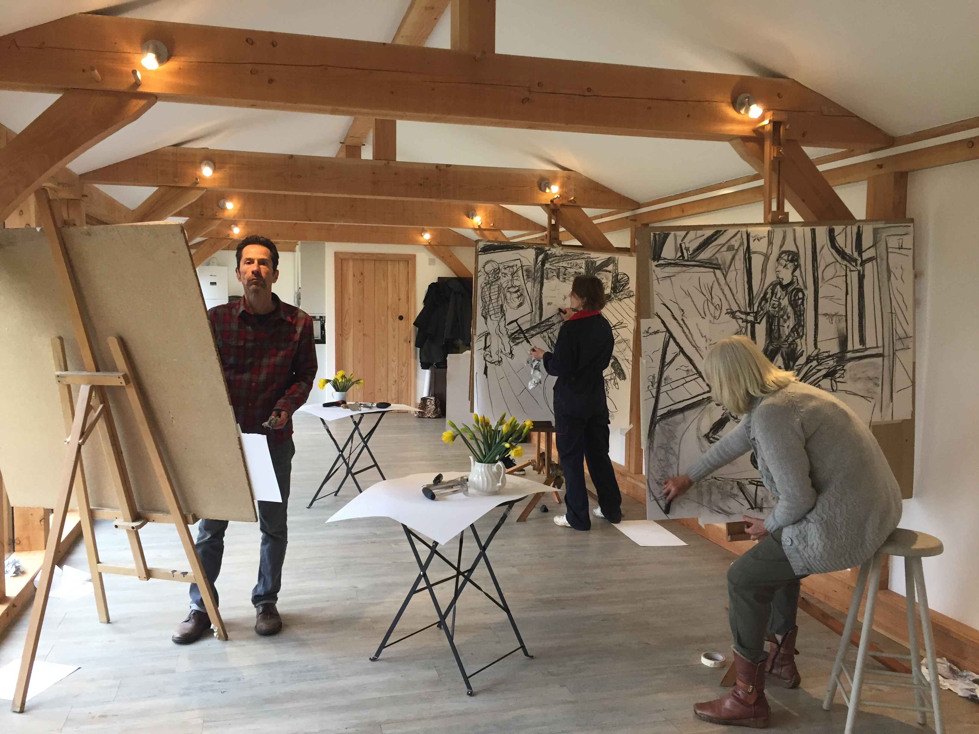 Drawing class in the studio