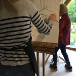 A drawing class at Hampshire art studio