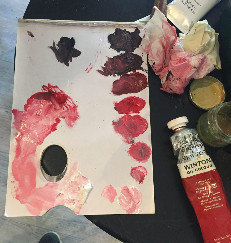 beginners oil painting palette